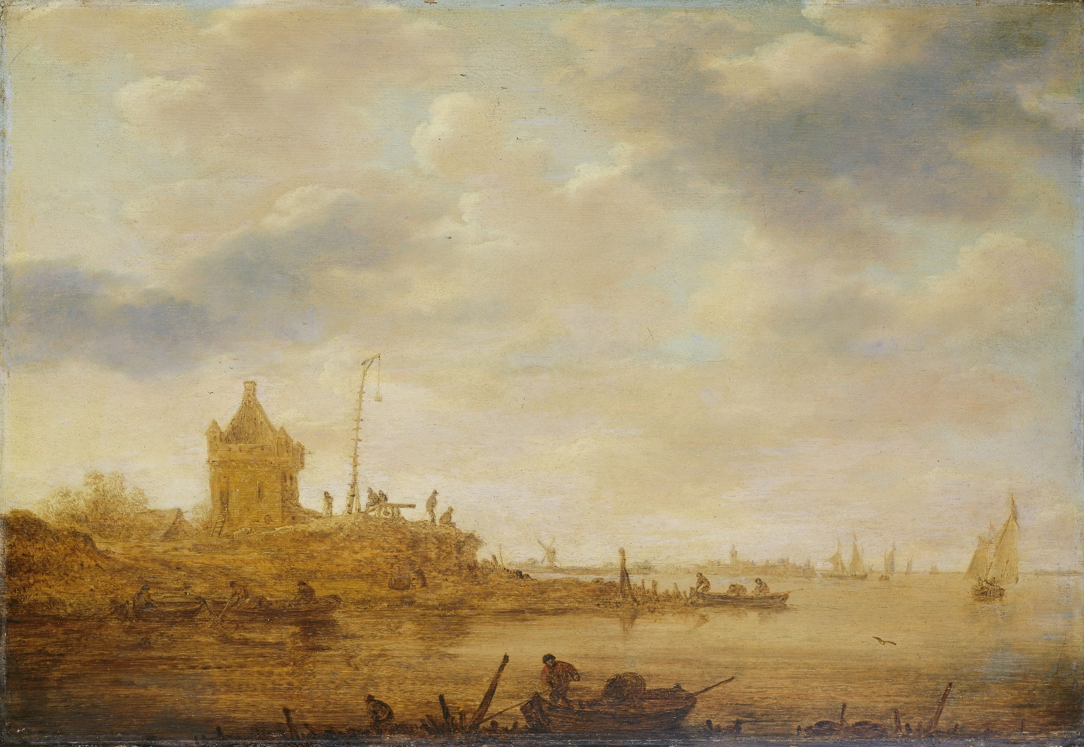 Schilderij Jan van Goyen